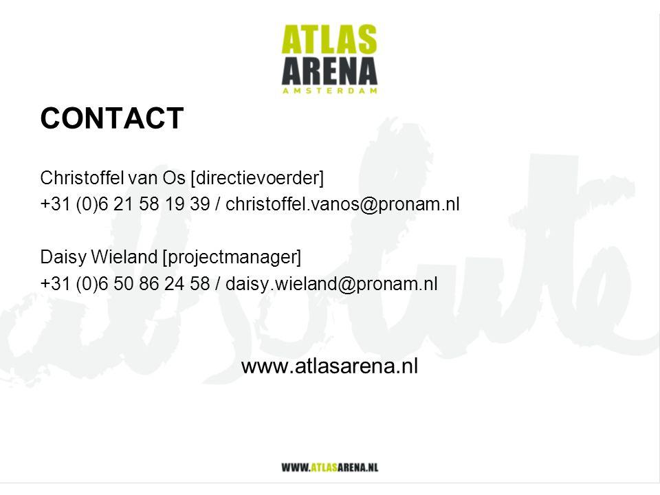 CONTACT www.atlasarena.nl Christoffel van Os [directievoerder]